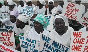 The Liberian womens' peace campaign